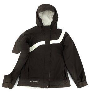 Columbia Brown & White Hooded Jacket